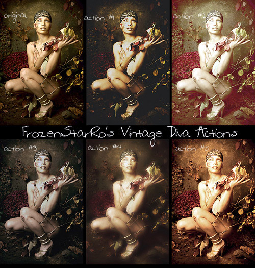 actions 15 Vintage and Aging Photo Effect Tutorials – The Ultimate Round Up