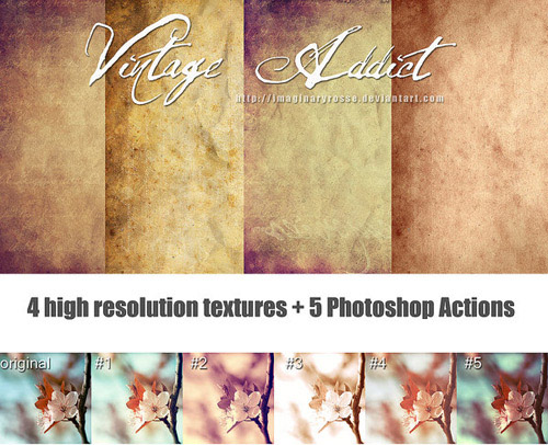 actions 1 Vintage and Aging Photo Effect Tutorials – The Ultimate Round Up