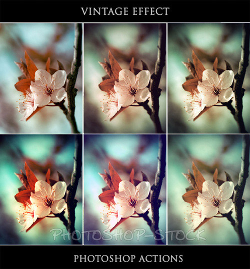actions 2 Vintage and Aging Photo Effect Tutorials – The Ultimate Round Up