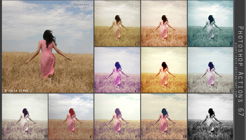 actions 3 Vintage and Aging Photo Effect Tutorials – The Ultimate Round Up