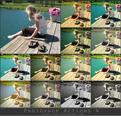 actions 6 Vintage and Aging Photo Effect Tutorials – The Ultimate Round Up