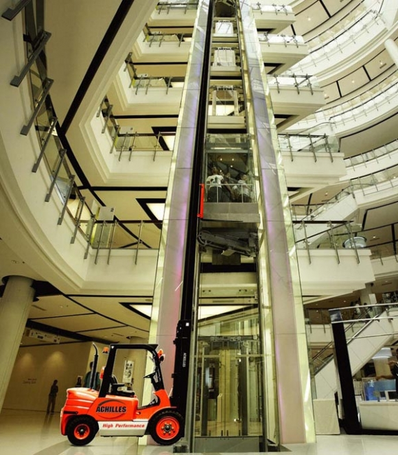 forklift - No! These are the best elevators ever!
