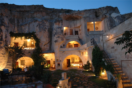 Cave Hotel in Turkey