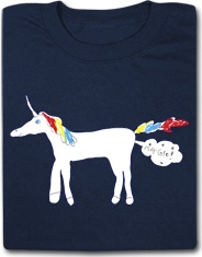 Magic Unicorn Fart Funny T Shirt