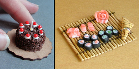 Miniature Food Sculptures
