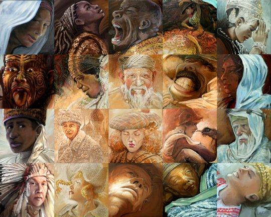 Картина на адам получена от мозайка на
