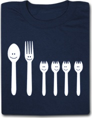 The Silverware Family Funny T Shirt
