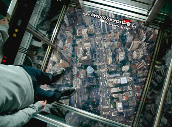 skydiving - No! These are the best elevators ever!
