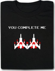 You Complete Me Galaga Video Game Funny T Shirt